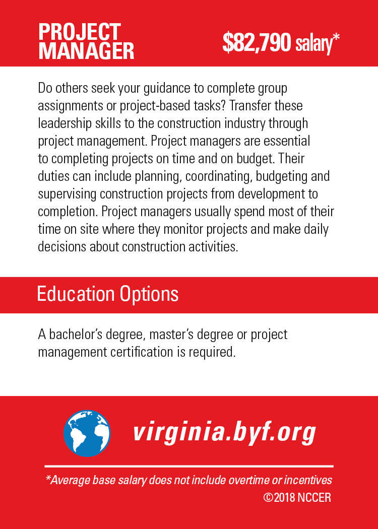 Project Manager Build Your Future Virginia
